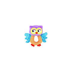 Jucarie zornaitoare din plus, Owl, 18 cm, Lorelli