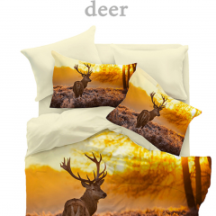 Lenjerie Digital 2 persoane, 200x220 cm, Deer