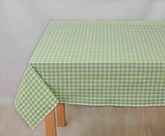Fata de masa carouri alb verde 140x180 cm