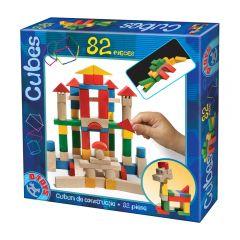 Set 82 cuburi de constructie colorate, D-toys