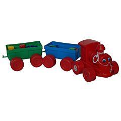 Set tren + cuburi constructie, Huby Toys