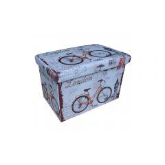 Taburet cu spatiu de depozitare 48x32 Bicicleta