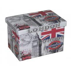 Taburet cu spatiu de depozitare 48x32 Londra