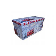 Taburet cu spatiu de depozitare Design 76.5x38 London