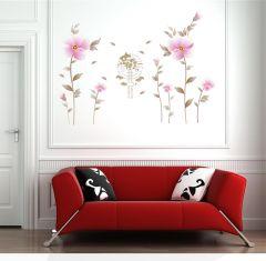 Sticker perete Scenery Flowers 60x90 cm