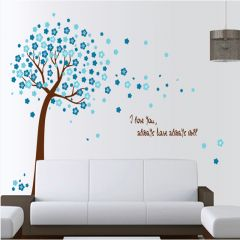 Sticker perete Blue Peach Tree