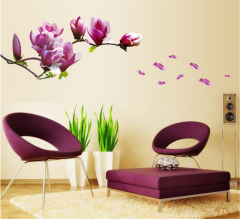 Sticker perete Magnolia Purple Flower