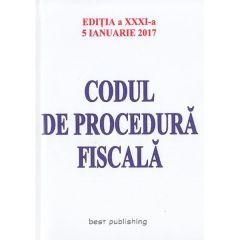 Codul de procedura fiscala Act. 5 Ianuarie 2017