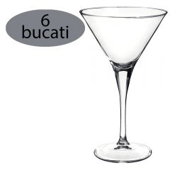 Set 6 pahare de cocktail/sampanie, 245 ml, Bormioli Rocco, model Party Ypsilon, fabricat in Italia, transparent