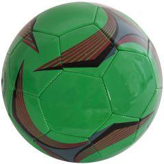 Minge de fotbal marimea nr. 5, Quasar, verde-rosu