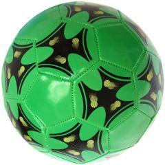 Minge de fotbal marimea nr. 5, Quasar, verde-negru