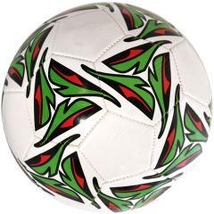 Minge de fotbal marimea nr. 5, Quasar, alb-verde