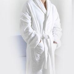 Halat baie, 100% bumbac, superabsorbant, 1000 g/mp, halat gros pentru baie hotel/pensiune, alb, Maxx, 1.85 kg, L