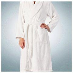 Halat baie, 100% bumbac, superabsorbant, 340 g/mp, halat baie hotel/pensiune, alb, Maxx, XL