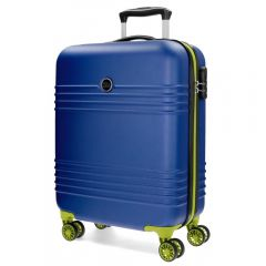 Troler ABS 55 cm 4 roti Roll Road India albastru