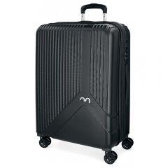 Troler ABS 67 cm 4 roti Movom Trendy negru