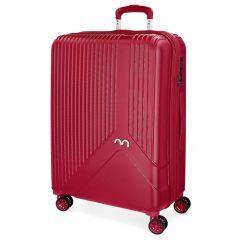 Troler ABS 76 cm 4 roti Movom Trendy rosu