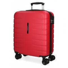 Troler ABS 55 cm  4 roti Movom Turbo rosu