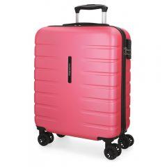 Troler ABS 55 cm  4 roti Movom Turbo roz