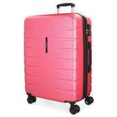 Troler ABS 69 cm  4 roti Movom Turbo roz