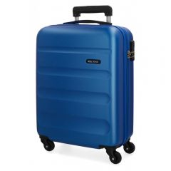 Troler ABS 55 cm 4 roti Roll Road Flex albastru