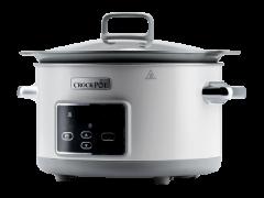 Slow cooker Crock Pot CSC026X-01, 5.0 L  Digital, 220W, 2 setari de gatire, Functie automata de pastrare la cald, Duraceramic, Vas Sauté Detasabil