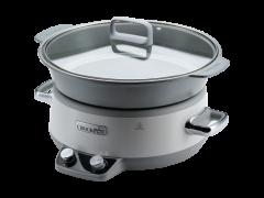 Slow cooker Crock Pot CSC027X-01, 6.0 L  Digital, 250W, 2 setari de gatire, Functie automata de pastrare la cald, Duraceramic, Vas Sauté Detasabil
