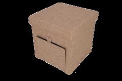 Taburet pliabil cu spatiu de depozitare, 38x38x38 cm , Grunberg
