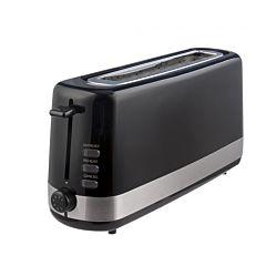 Prajitor de paine Studio Casa Black Stripe BSC181, 850 W, 2 Felii, Functie decongelare, Negru