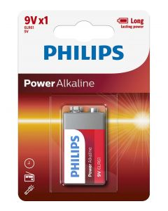 Baterie Philips Power Alkaline 9V 1-blister