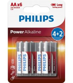 Baterii Philips Power Alkaline AA 4+2-blister PROMO