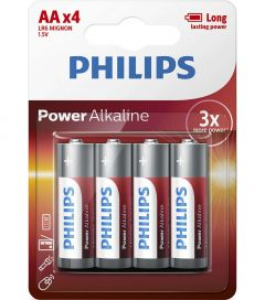 Baterii Philips Power Alkaline AA 4-blister