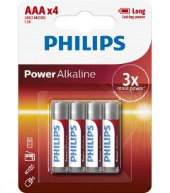 Baterii Philips Power Alkaline AAA 4-blister