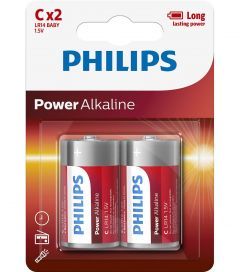 Baterii Philips Power Alkaline C 2-blister