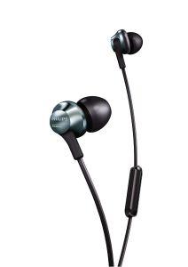 Casti audio Philips PRO6105BK/00, microfon incorporat, intraauriculare, audio de inalta rezolutie, izolare fonica, design ergonomic, lungime cablu 1.2m, conector placat cu aur, Argintiu/Negru