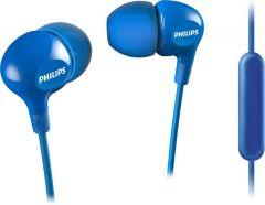 Casti audio Philips SHE3555BL/00, intraauriculare, microfon incorporat, design ergonomic, izolare fonica, lungime cablu 1.2m, conector cromat, Albastru