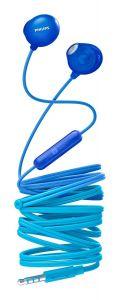 Casti audio Philips UpBeat SHE2305BL/00, intraauriculare, microfon incorporat, design ergonomic, izolare fonica, lungime cablu 1.2m, Albastru