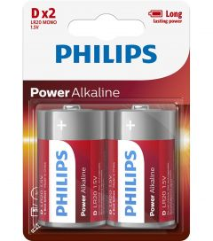 Philips Power Alkaline D 2-blister