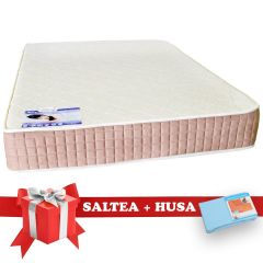 Set Saltea SuperOrtopedica Lux Saltex 140x190 cm + Husa cu elastic