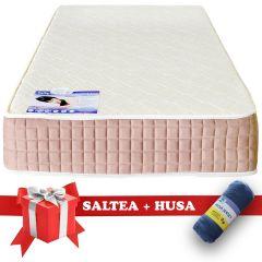 Set Saltea SuperOrtopedica Lux Saltex 90x200 cm + Husa cu elastic