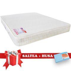Set Saltea SuperOrtopedica Saltex 140x190 cm + Husa cu elastic