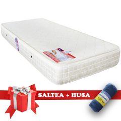 Set Saltea SuperOrtopedica Saltex 90x200 cm + Husa cu elastic