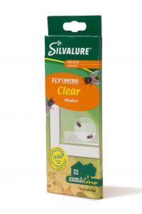 Capcana cu adeziv impotriva mustelor, fara insecticid, SILVALURE Window Clear, 10 bucati/pachet