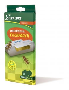 Capcana cu adeziv impotriva gandacilor, fara insecticid, SILVALURE Cockroach, 3 bucati/pachet