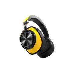 Casti Wireless Bluedio T6 Stereo, Bass Hi Fi, Anularea zgomotelor, USB Tip C, Bluetooth, Microfon, Handsfree, Control Volum, Galben