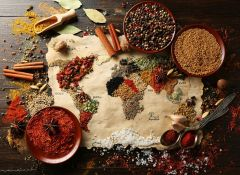 Puzzle Grafika - World map in Spices, 300 piese (55540)