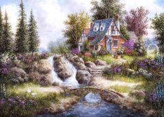 Puzzle magnetic Grafika Kids - Dennis Lewan: Magnetic Pieces - Alpine Falls, 24 piese (Grafika-Kids-01847)