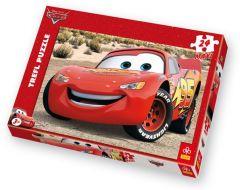 Puzzle Trefl - Cars : Flash Mc Queen, 24 piese XXL (3883)