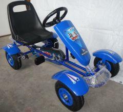 Kart cu pedale 100B-2 by Kart Goo pentru copii,varsta3-6 ani,roti cauciuc,scaun reglabil