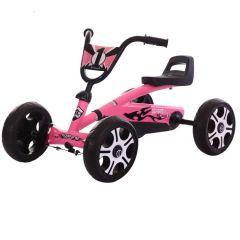 Kart Kido  K 80 pentru copii,cu varsta intre 2-5 ani culoare roz,roti cauciuc Eva